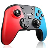 RegeMoudal Manette Switch, Manette de jeu rechargeable Bluetooth,Manette Switch sans Fil Convient pour Switch Pro / Switch Lite,Manette Switch de Jeu Avec/Turbo /Double Moteur Vibration/6-Axis Gyro