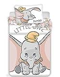 Dumbo Parure de lit Disney pour Bébé - Housse de Couette Réversible 100x135 cm + Taie d'Oreiller 40x60 cm