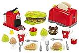 Jouets Ecoiffier – 2647 - Coffret toaster grand modèle + petit déjeuner pour enfants- 33 pièces – Dès 18 mois – Fabriqué en France