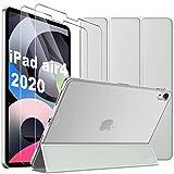 IVSO Coque iPad Air 4 (2020) + Verre Trempé pour iPad Air 4 (2 pièces), Protection écran pour iPad Air 2020,Coque iPad 10.9, Protection iPad Air 2020 Verre Trempé