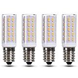 JAUHOFOGEI Ampoule LED E14 Petit culot à vis, 3 watt (équivalent incandescente de 40W), Spot Lumiere pour Lustre Plafonnier, 230V, Non-dimmable, Blanc Chaud, Pack de 4
