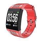 ZBY P16 Smart Bracelet Fitness Tracker Tracker Bracelet Récompense Cardiaque Surveillance du Sommeil Contrôle De La Surveillance De La Caméra Smart Watch Smart Watch Smartwatch,B