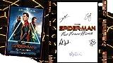 Affiche du film Spiderman - Far From Home World et autographe - Tom Holland, Zendaya, Jake Gyllenhaal, Jacob Batalon, Marisa Tomei, Cobie Smulders