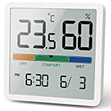 NOKLEAD Thermomètre/hygromètre numérique Portable avec Haute précision, température et hygromètre pour contrôle de la température ambiante, contrôle de l'air ambiant, Surveillance du Climat