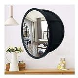 Armoire de Salle de Bains Murale Moderne avec Miroir, Armoires Pharmacie Suspendue Ronde, pour Salon Cuisine Chambre,Noir,50cm