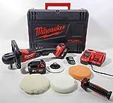Milwaukee 4933451550–m18fap 180–502x meuleuse M18FUEL sans balais, plat de 180mm, 2x m18b5