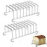 Support de Pain grillé en Acier Inoxydable Le Petit Porte-Toast en Acier Inoxydable Plaqué Supports Grille à Pain Trous Support de Pain de Mie Grille de Refroidissement pour Pain Accessoires(2 Pièces)