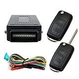 Style13 Kit de verrouillage central universel pour porte de voiture avec boîtier de contrôle + 2 télécommandes de rechange pour serrure centrale de voiture