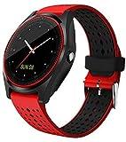 Hwhwxs Smart Montre Le Sommeil de la caméra de Surveillance Bluetooth pédomètre d'exercice, Le positionnement Bracelet Intelligent Peut Appeler la Montre Peut être insérée dans Le Dessin animé,Rouge