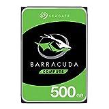 Seagate BarraCuda, 500 Go, Disque dur interne HDD – 2,5' SATA 6 Gbit/s 5 400 tr/min, 128 Mo de mémoire cache, pour PC portable - Ouverture facile (ST500LMZ30)