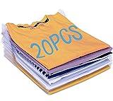 Nifogo Organisateur d'armoires,Organiseur de T-Shirt,Vêtements Documents Chemise T-Shirt Taille Normale (20PCS)