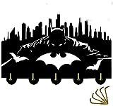 Patère Murale Crochet Porte Manteau Crochets Polyvalents | Heavy Duty 20LB (Max) | Crochets de Manteaux muraux muraux | pour Mur, entrée et Cuisine (Color : Batman 1)