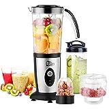 Uten Blender Smoothie 1.25L, Uten Mini Blender, Mixeur Blender pour Milk-Shake, Jus de Fruits et Légumes, Blender Portable pour Sport, Voyage et Maison (b)