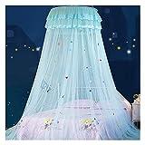 JHGF Lit d'enfant à baldaquin moustiquaire crypté Fil Hexagonal dôme Dessin animé Dentelle Rideaux de lit en Tissu pour lit Simple de 1 à 1,5 m (Taille : 1,35 m/4,5 Pieds)