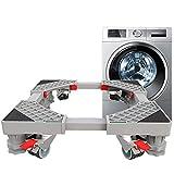 LXYYSG Socle Lave Linge Base de Réfrigérateur Machine, Multifonction Support de Machine Universel, Stent Ajustable pour Gaziniere Séchoir et Distributeur Automatique, Acier Inoxydable