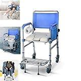 Chaise de pot pour personnes âgées, chaise de lit pliante portable pour personnes âgées, tabouret de chaise de toilette pour adultes médicaux avec couvercle, pour personnes âgées,handicapées