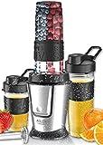 Set smoothe 2 en 1   sans BPA   Gobelets à emporter   800 W   Mixeur plongeant   Mini blender   Blender à main   Shake Mixer   To-Go Smoothie   Mixeur