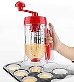 Distributeur de pâte à crêpes, Verre distributeur de pâte de précision avec échelle pour gaufres muffins crêpes gâteaux