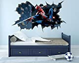 Stickers murauxThe Amazing Spider Man Wall Hole 3D Decal Vinyl Sticker Decor Room Smashed-60 * 90 CM
