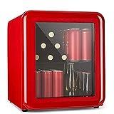 H.Slay SHKUU Beverage Cooler-Retro Bar Mini Réfrigérateur Cosmétique, Réfrigérateur Rétro, 0-10°Seulement 39 DB, Design Rétro, Utilisé dans Les Cosmétiques Skincare-60L, LCD + Lumière LED