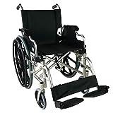 Mobiclinic, Ópera, Fauteuil roulant pliable, Chaise roulante pour personnes âgées et handicapées, Marque européenne, Accoudoirs rabattables et Repose-pieds amovibles, Léger