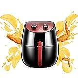 XQKQ Grils et Grils intérieurs, sans friteuse à Huile, friteuse à air de Luxe 3.2l 1300w Cuiseur sain et Faible en Gras Friteuse Multifonction Bol d'huile Amovible Mini Four Four à air Chaud-Noir