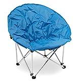 Navaris Chaise Pliante Ronde - Siège de Camping Pliable - Sac de Rangement Inclus - Pêche Festival extérieur - Plusieurs Couleurs Disponibles