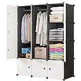 BRIAN & DANY Armoire Portable, Penderie avec Portes, Storage Modulable Meuble Étagères de Rangement, 12-Cube