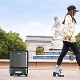 Valise électrique, télécommande Bluetooth, conception d'éclairage coloré à LED, valise USB intelligente automatique suivre les enfants sac à bagages boîte valise de voyage chariot transporter,Noir