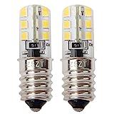 Ampoule frigo LED E14 2W (Equivalent à Halogène 10-25W) blanc chaud 3000K, 220-240V, imperméablem - Lot de 2