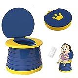 Junzheng Siège Toilette Pliable Enfants,Toilettes de Pot Portables,Chaise de Toilette Pliante de Formation de Bébé, Pot de Voyage Extérieur Intérieur,Anti-Eclaboussure Pot d'entraînement Enfant