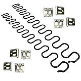 JJDD Ressorts de rechange pour canapé 2 pièces de 50,8 cm avec 8 clips en S, 4,0 fils de diamètre Kit