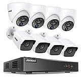 ANNKE 5MP 8CH DVR Kit de Surveillance H.265 Pro+ avec 8 Caméra dôme et Bullet 5MP PIR de Vidéosurveillance Sécurité Intérieur Vision Nocturne 100ft/30m,No HDD