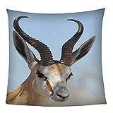 Plaid Couverture Polaire Springbok Animal 150x200cm Impression 3D Couverture Légère en Polaire De Flannelle Linge De Lit Couvre-Lit Couverture De Canapé