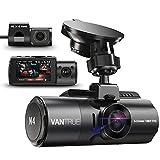 Vantrue N4 Triple Dashcam 1440P+Dual 1080P Avant et Arrière, 4K Frontale Caméra Embarquée Voiture à Condensateur, Vision Nocturne IR, 24H Mode Parking, Détection de Mouvement, WDR, G-Senseur,Max 256 G