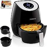 Friteuse électrique à air chaud avec écran tactile, minuteur et température réglable 1500 W 3,6L - Noir et argent
