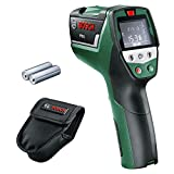 Détecteur thermique Bosch - PTD 1 (Livré avec 2 piles AA, poche de rangement, écran digital)