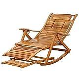 Chaises de Jardin, Bains de Soleil Loisirs zéro gravité, chaises Longues en Bois Dur, dossiers réglables, terrasses extérieures, 100% Bambou