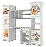 Disney Armoire murale pour chambre d'enfant avec tiroirs et bureau intégré