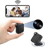 Mini Caméra WiFi Nanny Caméra Full HD 1080P Caméra Surveillance Voiture Ohne Fil mit Vision Nocturne und Erkennung Von Mouvement Cam Micro Camera für Maison und Le Bureau