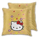 MISS-YAN Hello Kitty Lot de 2 housses de coussin décoratives pour lit/chaise/canapé
