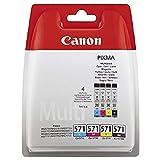 Canon CLI-571 Cartouche C/M/Y/BK Multipack Cyan, Magenta, Jaune, Noire (Multipack plastique sécurisé)
