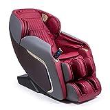 ANANDA® Fauteuil de massage 2D+ Rouge (modèle 2021) - 12 programmes professionnels de massage et de pressothérapie - Thermothérapie - Gravity et Spatiale'Zero' - Son surround 3D Bluetooth - USB