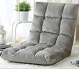 Chaise de plancher, Chaise de méditation avec dos support, Chaise de plancher de jeu pliable, 5 angles réglable, pour lecture de la baie vitrée du sol intérieur Regarder jouer, Enfants adultes,E