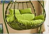 Coussins d'extérieur pour chaises de patio Coussin de chaise de nid d'œuf pour personnes doubles, panier épaissi Tapis de siège pivotant en osier lavable Coussin de chaise berçante en rotin Coussins