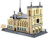 ZGYQGOO Enfants Puzzle Puzzle 3D Assemblé Blocs de Construction Jouets Monde Célèbre Architectural Modèle Notre Dame Souvenirs Cadeaux Créatifs Décoration de La Maison