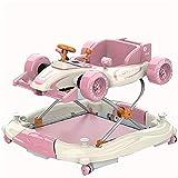 LIUCHANG Zuoao 2 dans Une Forme de Voiture, Pliable Marcheur de réglage 4 en Hauteur, Marcheur pèse 20 kg, Peut contenir jusqu'à 20 kg, adapté à 6-18 Mois, Bleu liuchang20 (Color : Pink)