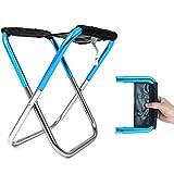 Xiton One Pack Mini extérieur Chaise Pliante Ultra léger Randonnée Pêche Chaise de Camping Tabouret de siège Portable avec Sac de Rangement Sac à Dos Bleu