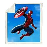 Spiderman Flanel Thread Couvertures Soux Soft Chaud Enfants Adultes Couverture En Peluche Enfants Cadeau De Noël Pour Garçons Décor De La Chambre Pour Le Canapé De Lit