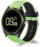 Hwhwxs Smart Montre Le Sommeil de la caméra de Surveillance Bluetooth pédomètre d'exercice, Le positionnement Bracelet Intelligent Peut Appeler la Montre Peut être insérée dans Le Dessin animé,Vert